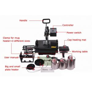 China 110V / 220V Digital Flat T shirt Heat Transfer Printing Press Machine STC-SD09 on sale