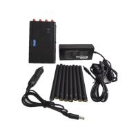 China Handheld Cell Phone Jammer / Portable GPS Jammer With Eight Antennas , 125*75*35mm on sale