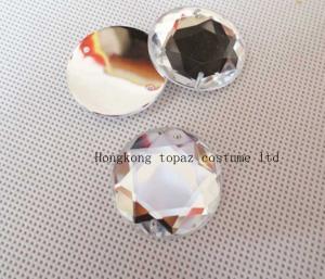 China wholesale sew on acrylic beads crystal rhinestones round shape on sale
