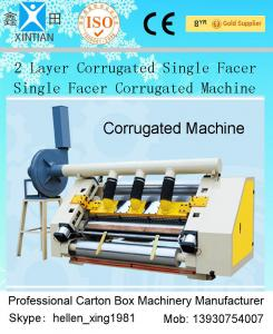 China 2 Layer Single Facer Corrugated Paper Carton Making Machine Simple Structure on sale