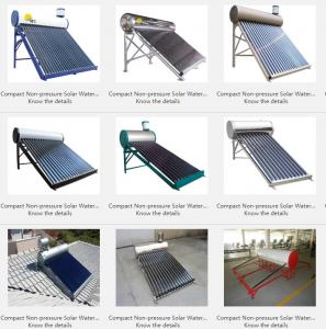 China Compact Non-pressure Solar Water Heater on sale