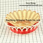 Hand weaving Rattan eco-friendly fruit and snack basket