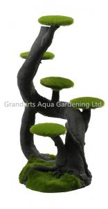 China Moss tree stump, bonsai tree, artificial tree, mini tree decoration, Imitation tree on sale