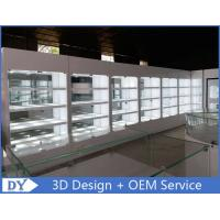 High Wooden Shelf Jewellery Shop Display Cabinets For Showroom