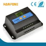 Contrôleur de charge de pwm de haute qualité de Hanfong LCD/LED/régulateur solaires 10a 12/24v avec du CE ROHS