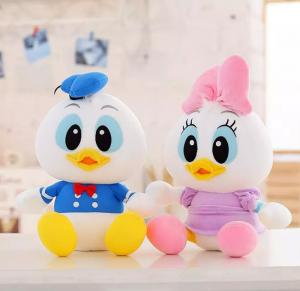 China Disney Donald Duck And Daisy With Foam Particle Material / Nanoparticles Disney Stuffed Toys on sale