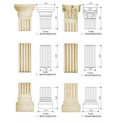 Sandstone Exterior Decorative Columns Grey Polished For House