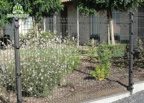 Black Welded Wire Garden Fence With 3D Curved Type Powder Coating ...