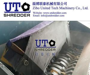 China bulky garbage, low noise automatic waste furniture shredder/ sofa shredder/ sofa crusher/ with PLC control on sale
