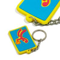 China Eco - Friendly Personalized Promotional Gifts 3d Pvc Key Chain Any Color on sale