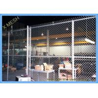 China 11 Gauge Chain Link Fence Fabric , 50 Foot Chain Link Privacy Screen For Security on sale