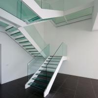 Experienced Factory Custom Straight Stairs Wood Treads Stainless Steel/Wrought Iron Stringer Staircase Designs