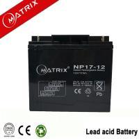 China Matrix 12V 17AH sealed lead acid battery on sale