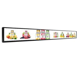 China Narrow Stretched Bar Lcd Display WIFI BT LAN Tft  Screen Advertising Display 23.1 Inch on sale