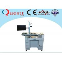 Automatic Fiber Laser Marking Machine With Automatic Conveyor Device Transferring