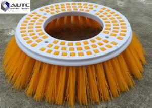 China Poly Elgin Side Broom Road Sweeping Brush Industria Colorful Road Sweeper Brush Round Plastic Broom Base Thickness 20mm on sale