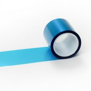 China High Temperature PET Adhesive blue Tape Coated Silicone Adhesive Polyester mylar tape on sale