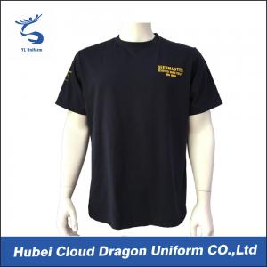 China 100% Polyester Men Police Officer T Shirts Printed Company Logo on sale