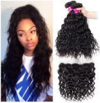 Black Color Cambodian Virgin Hair / Natural Wave Hair Extensions No Shedding