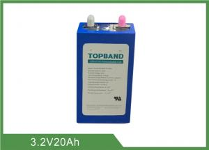 China 3.2V 20Ah Rechargeable LiFePO4 Battery Pack High Rate UL UN38.3 IEC62619 Approval on sale