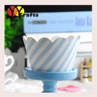 China Wedding Colorful Cupcake Wrappers Paper Customized Printed Solid on sale