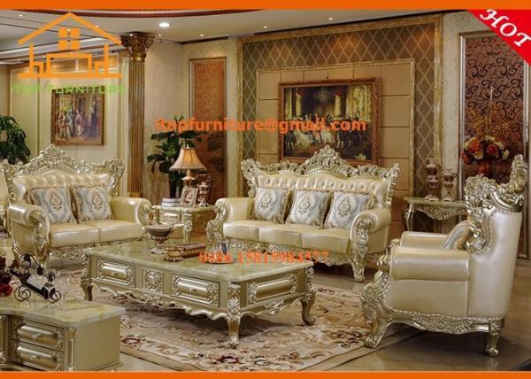 Villa Antique Simple Wooden Luxury New Model Wooden Sofa Sets