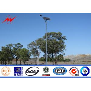 China Polygonal single cross arm Steel galvanized Street Light Poles for street on sale