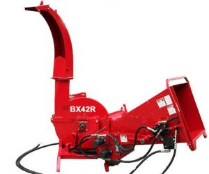 Quality 4 Reverse Blades Tractor Wood Chipper Shredder For 3 Point Hitch Self Feeding for sale