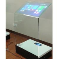 30 Inch Interactive Touch Screen Platform Advertising Display Transparent Booth
