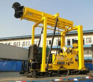 China ZSYX-300T Full Hydraulic Small Water Well Drilling Rig (mud pump draining, trailer type) on sale