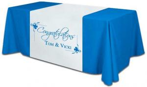 China Display Custom Printed Table Covers , Fabric Promotional Table Covers on sale