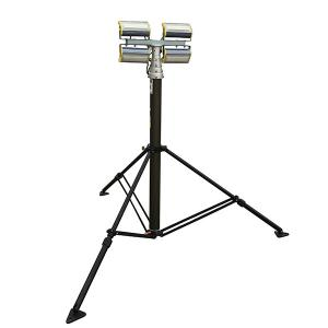 China 4.2m Height Pneumatic Telescopic Mast Tower Light 4x50W LED lamps mounted with ground mounting tripod bracket on sale
