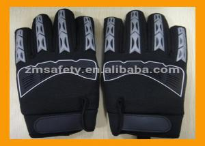 China Black Synthetic Leather Mechanic Work Gloves Palm Padded With EVA Foam on sale