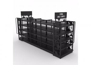 China Easy To Assemble Supermarket Metal Shelves 50-150KG Per Layer Loading Capacity on sale