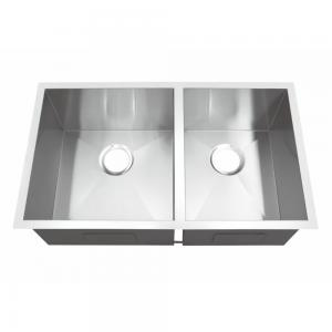 China 32 Inch X 19 Inch Undermount Stainless Steel Kitchen Sink Modern Design on sale