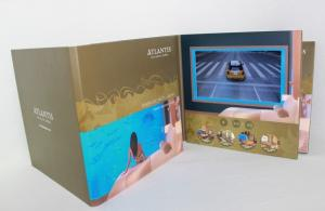 China Free Sample VIF Handmade USB downlaoding CMYK printing LCD  HD IPS 7 Inch Video Brochure Card for advertising on sale
