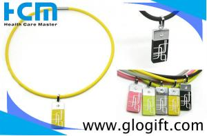 China P068 Power Negative ion balance sports noproblem pearlion silicone necklace on sale