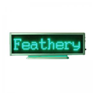 China Green LED Scrolling Display Moving Sign Display Rechargeable/Edit By PC/B1664APG on sale