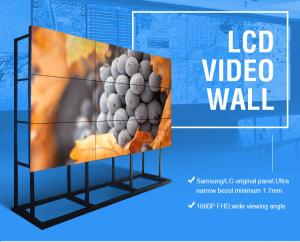 China 3810x2160 HD 4K Lcd Wall Display Screen 65'' Large Format Seamless 3x3 OLED TV Monitor on sale