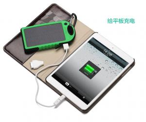 China Black/blue/yellow Solar Charger 5000mAh Panel Charger for ipad/iPhone 6 Plus on sale