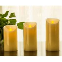 China Flickering Candle Real Wax Flameless LED Candles with Dancing Flame 3 4 5 on sale