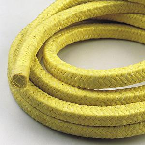 China Yellow Aramid Braided Gland Packing For Superheated Steam , Solvents on sale
