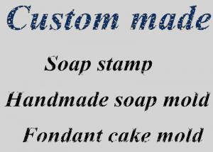 China Resin Soap Stamp Customized DIY Soap Printed Pattern , Silicone Soap Candle Molds on sale
