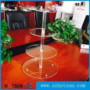 China Customized modern style 4 tier round plexiglass cake stand,acrylic cupcake stand wholesale from China on sale