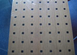 China Soundproof Wall MDF Acoustic Panel With Natural Wood Veneer Finish BT new pattern on sale