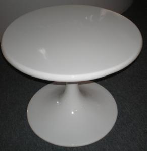 China Color Selection Contemporary Glass Coffee Tables ABS Round Top Tulip Side Type on sale