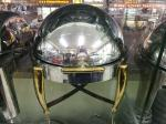 Durable Stainless Steel Cookwares , Round Roll Top Chafing Dish Stand with Golden Plated Hollow Steel Legs