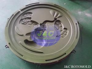 China Popular Precision Rotational Molding Roto Moulder With Teflon Coating Mirror Panel on sale