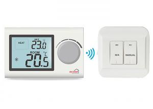 China Water Heating System Wireless Digital Room Thermostat , Rf Boiler Heat Thermostat supplier