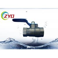 Two Way Air Brass Plumbing Valves With Level Iron Handle Nickle Plated